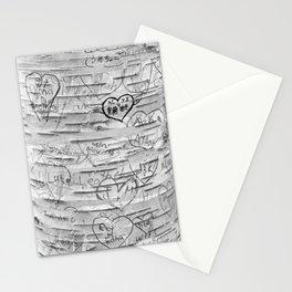 Love Memories in Lover's Lane, Green Gables, black white Stationery Cards