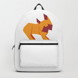 Origami French Bulldog Backpack