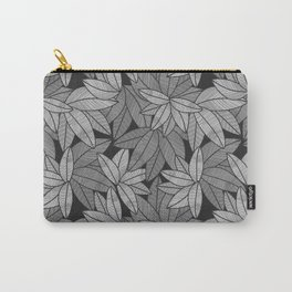 Black & White Leaves By Everett Co Carry-All Pouch