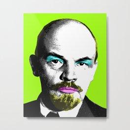 Ooh Mr Lenin - Lime Metal Print