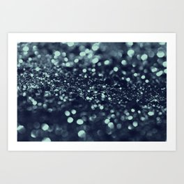 Sparkling Blue Summer Night Lady Glitter #2 #shiny #decor #art #society6 Art Print