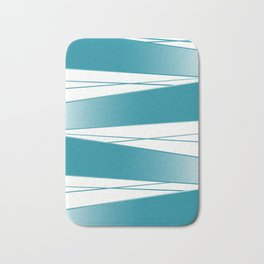 White and blue Bath Mat