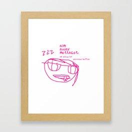 Snooze Button Framed Art Print