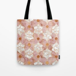 Rose Gold Art Deco Butterfly Pattern Tote Bag