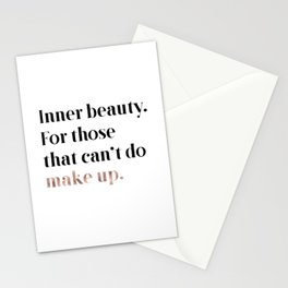 Rose gold beauty - inner beauty, for those that can't do make up Stationery Cards