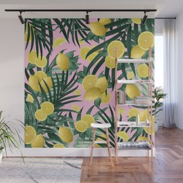 Summer Lemon Twist Jungle #6 #tropical #decor #art #society6 Wall Mural