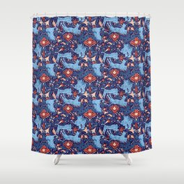 Floral Tiger Shower Curtain