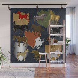 Horsing Around with Heraldry Wall Mural