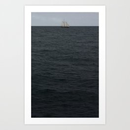 sails over waves Art Print