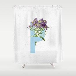 Letter 'P' Monogram Shower Curtain