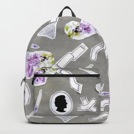 Grey chaRActer art Backpack