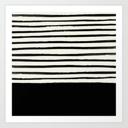 Black x Stripes Art Print