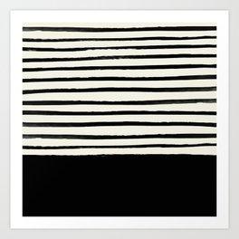 Black x Stripes Art Print