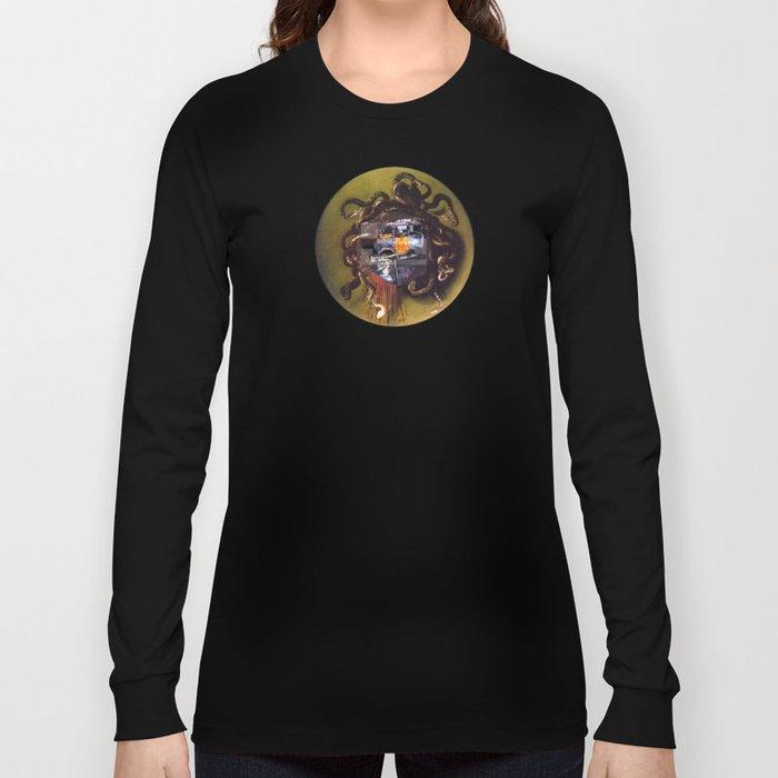 Caravaggio´s Medusa Collage 1 Long Sleeve T-shirt
