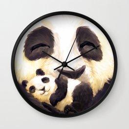 Cuddly panda Wall Clock