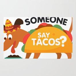 Did Someone Say Tacos Dachshund Dog Funny De Mayo Gift Rug