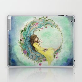 The Girl At The Moon Laptop & iPad Skin
