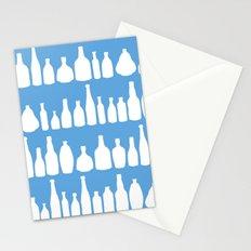 Bottles Blue Stationery Cards