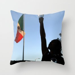 Mexican juggler Throw Pillow