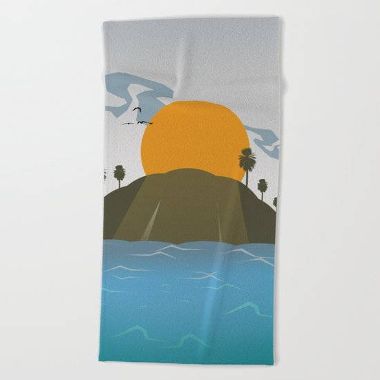 Tropic storm is coming Beach Towel