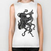 octopus Biker Tanks featuring Octopus by Nicklas Gustafsson