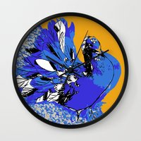 pigeon Wall Clocks featuring Pigeon by Aimee St Hill
