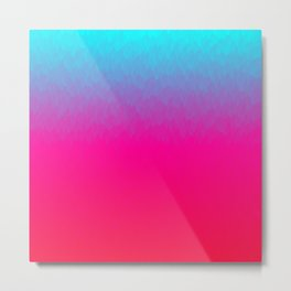 Blue purple and pink ombre flames Metal Print