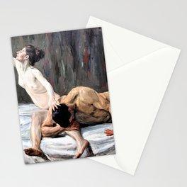 12,000pixel-500dpi - Max Liebermann - Samson and Delilah - Digital Remastered Edition Stationery Cards