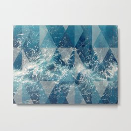 Geometric sea Metal Print