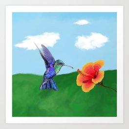 The very hungry hummingbird Art Print