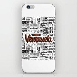 Venezuela Lettering Design iPhone Skin