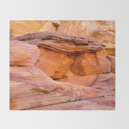 Colorful Sandstone, Valley of Fire State Park Throw Blanket