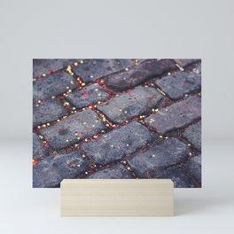 Rocks, stars, hearts Mini Art Print