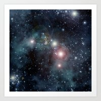 outer space Art Prints featuring Outer Space by apgme