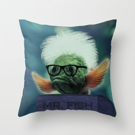 Serous Fishness Throw Pillow