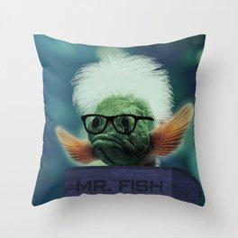Serous Fishness Throw Pillow