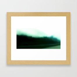 Dark road Framed Art Print