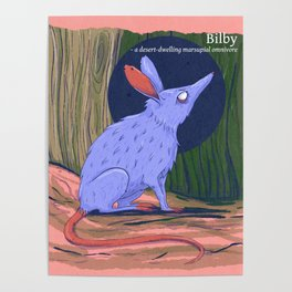 The bilby a rabbit-like marsupial Poster