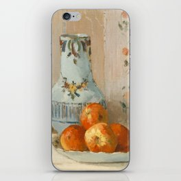 Camille Pissarro - Still Life with Apples and Pitcher,1872 iPhone Skin