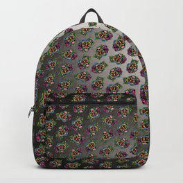 Smiling Pit Bull in Brindle - Day of the Dead Pitbull Sugar Skull Backpack