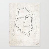 neil young Canvas Prints featuring One line Neil Young by quibe