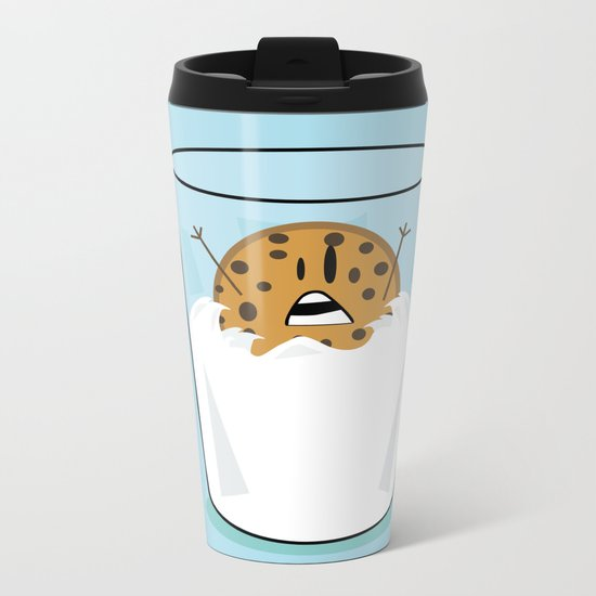 The problems of being a cookie in a milk glass Metal Travel Mug