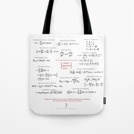 High-Math Inspiration 01 - Red & Black Tote Bag