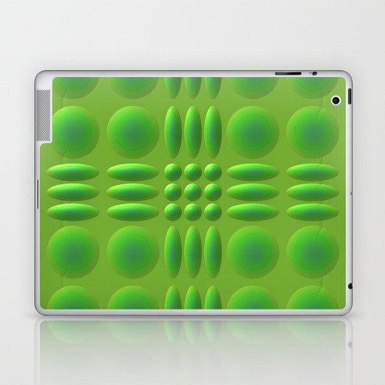 Puffy Green Laptop & iPad Skin