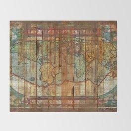 Antique World Throw Blanket