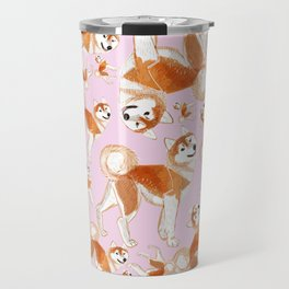 Akita Inu (Pattern) Travel Mug