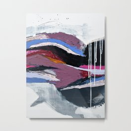 Ebb and Flow:  vibrant, minimal abstract piece in various colors by Alyssa Hamilton Art Metal Print