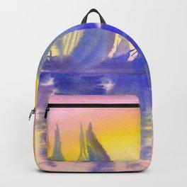 Sunset on marina Backpack