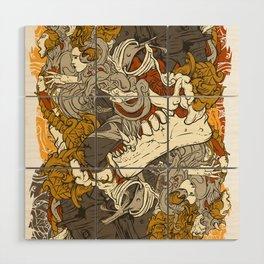 VECTORICAL DANCING Wood Wall Art