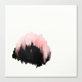 pink cities - an abstract painting in millennial pink and black Canvas Print